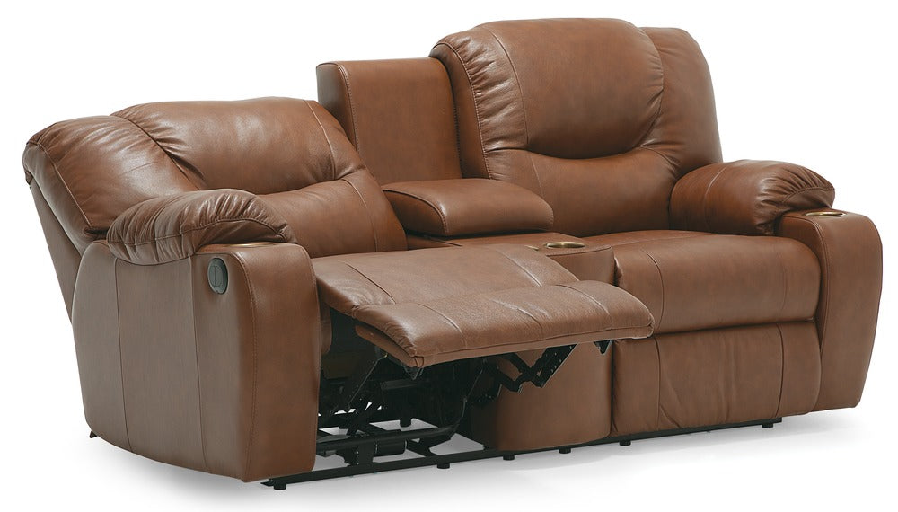 Dugan - Powered Reclining Loveseat reclined right front view