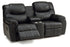 Regent - Powered Reclining Loveseat w/ home theater wedge front view