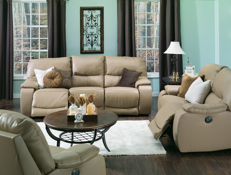 Norwood - example living room w/ Powered Reclining Sofa and Powered Reclining Loveseat