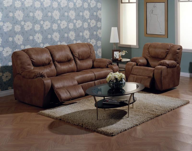 Dugan - example living room w/ Powered Reclining Sofa and Powered Recliner