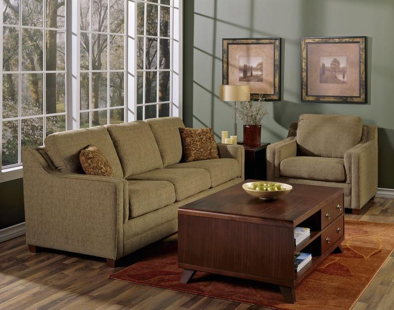 Corissa - example living room w/ 3 cushion sofa and Armchair
