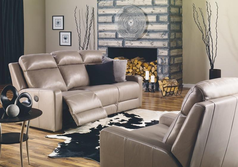 Forest Hill - example living room w/ Powered Reclining Sofa and Powered Reclining Rocker