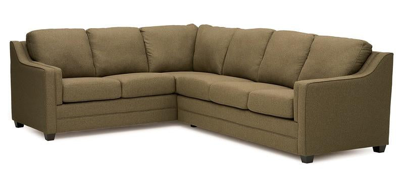 Corissa - Right Arm Sofa W/ Return , Left Arm Loveseat front view
