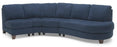 Juno - Left Arm Sofa. Right Arm Chaise front view