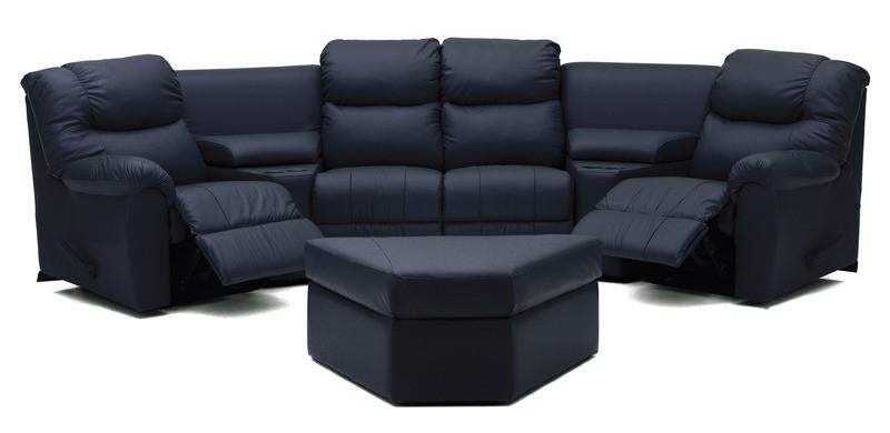 Regent - Left Arm Powered Recliner, Armless Chair, Corner, Arrmless Chair, Right Arm Powered Recliner and Ottoman front view