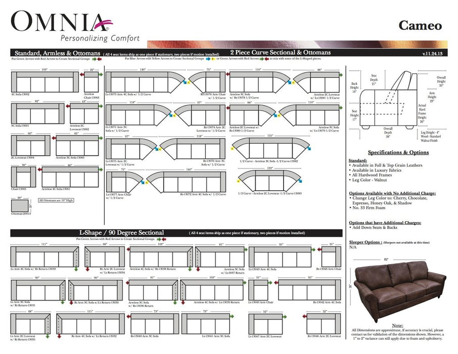 Omnia Cameo Sectional - leatherfurniture