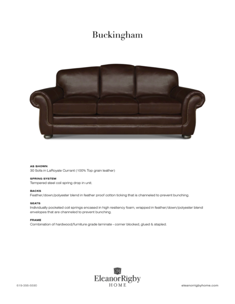 Eleanor Rigby Buckingham - leatherfurniture