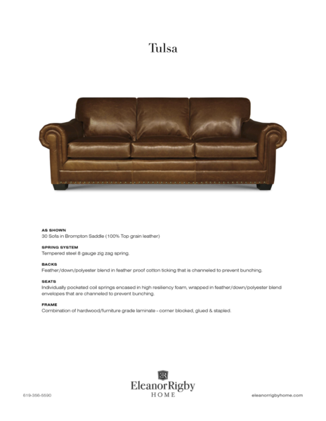 Eleanor Rigby Tulsa - leatherfurniture