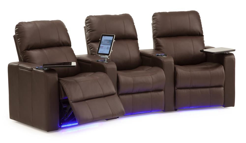 Elite - Reclining Sofa w/ 2 WEDGE Console Arms right front