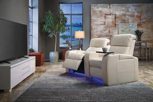 Flicks - example living rooms w/ Powered Reclining Loveseat w/ Straight Console Arm