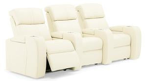 Flicks - Powered Reclining Sofa w/ 2 Straight Console Arm right front view