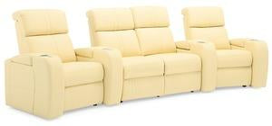 Flicks - Reclining 4 Cushion Sofa w/ 2 WEDGE Console Arms right front view