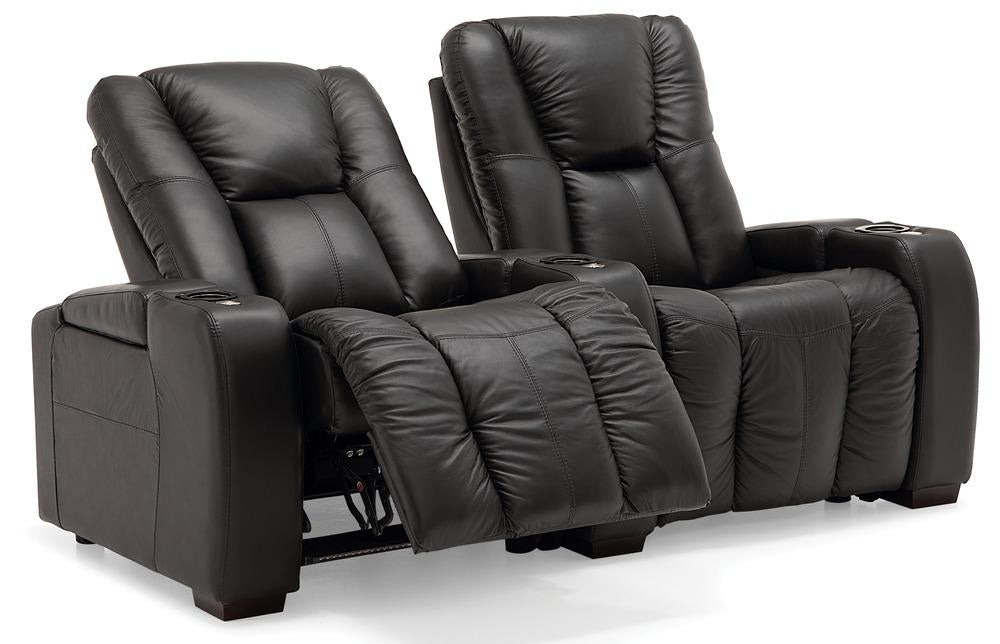 Media - Reclining Loveseat w/ Straight Console Arm reclined right front view