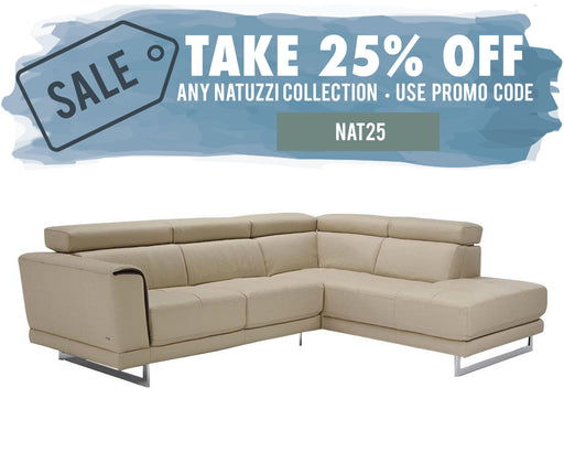 Natuzzi Guido Sectional B887