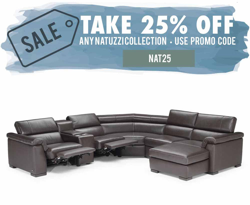 Natuzzi Editions Tommaso Sectional B634