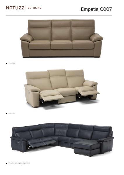 Natuzzi Empatia Sectional C007 - leatherfurniture