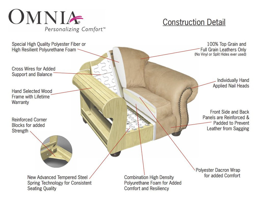 Omnia Bennett Sofa - leatherfurniture