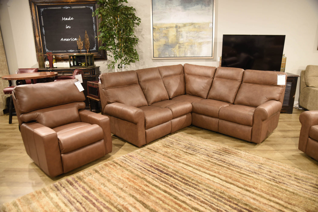 Omnia Brookhurst Sectional - leatherfurniture