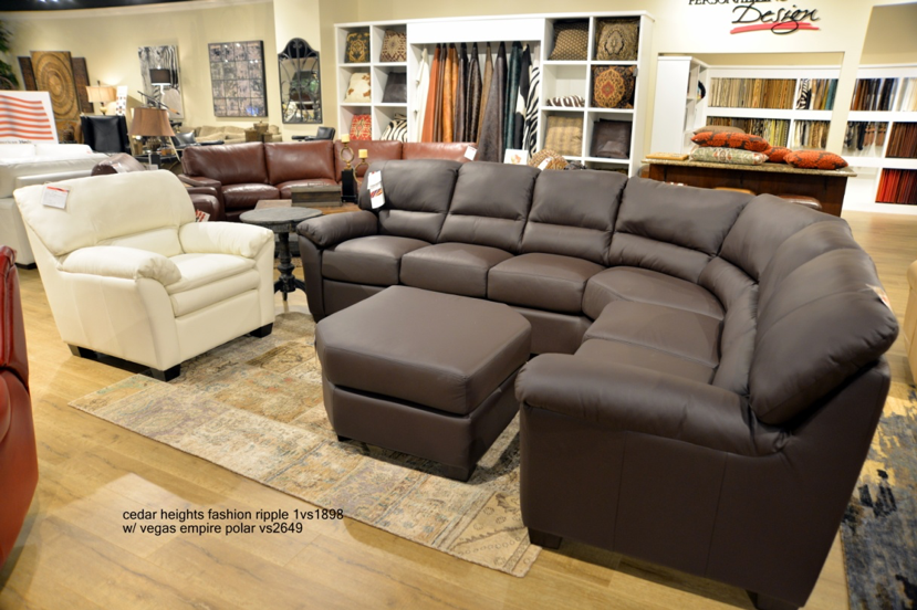 Omnia Cedar Heights Sectionals - leatherfurniture
