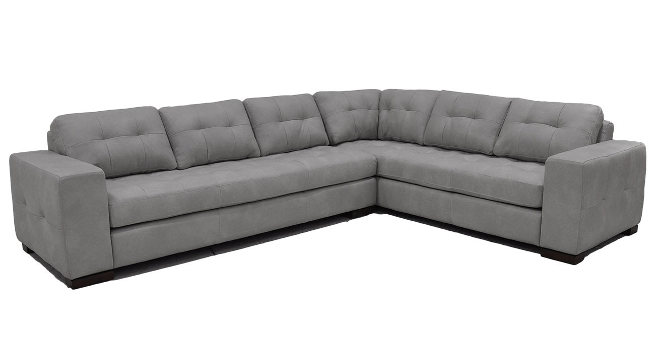 Omnia Peninsula Sofa - leatherfurniture
