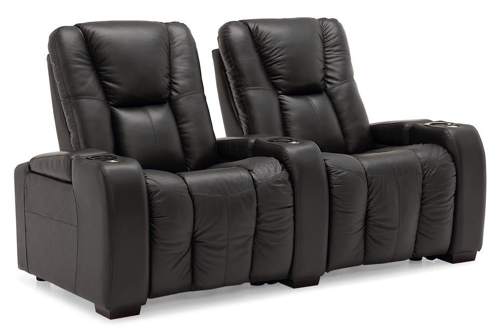 Media - Reclining Loveseat w/ Straight Console Arm front view