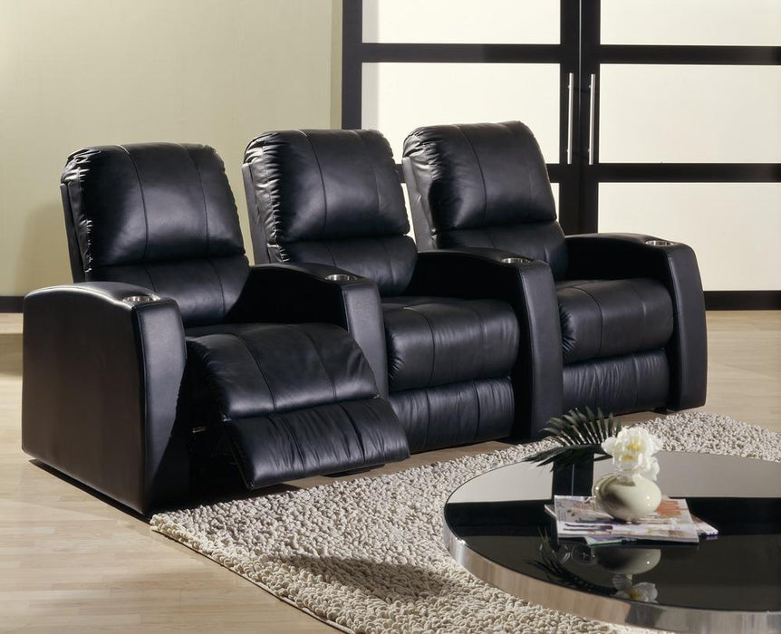 Pacifico - example living room w/ Reclining Sofa w/ 2 Straight Console Arm