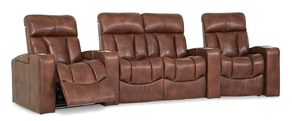 Paragon - Reclining 4 Cushion Sofa w/ 2 WEDGE Console Arms front view
