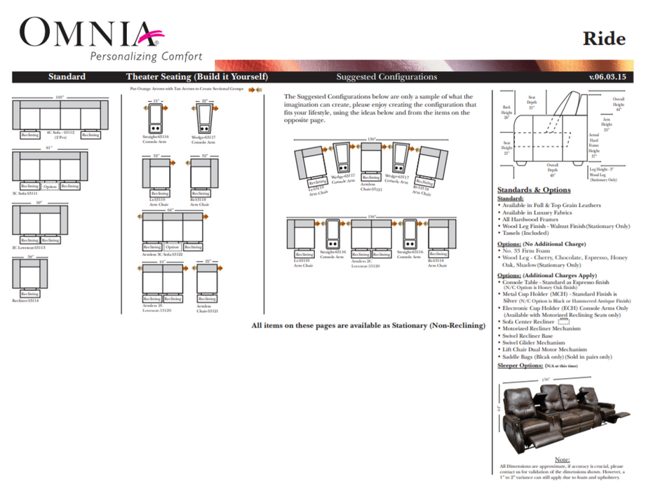 Omnia Ride Theater - leatherfurniture