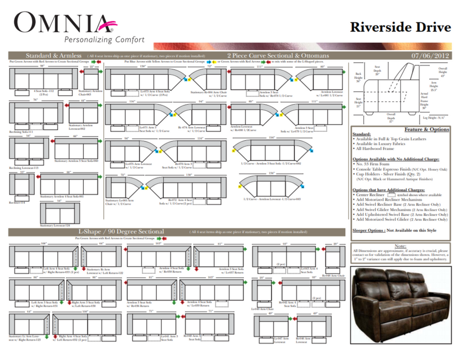 Omnia Riverside Drive Theater - leatherfurniture