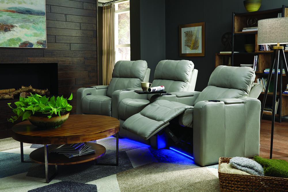 Soundtrack - example living room w/ Powered Reclining Sofa w/ 2 WEDGE Console Arms