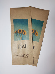 Custom Print Econic®Kraft Compostable Dry Goods Bag 200/250g SAMPLE PACK