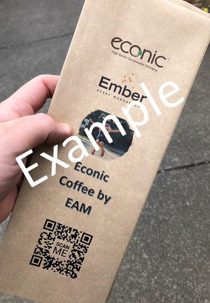 Custom Print Econic®Kraft Dry Goods 1kg Bag: SAMPLE PACK