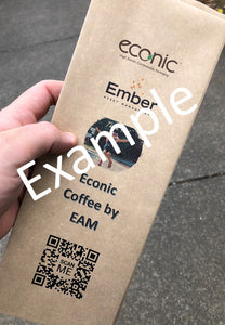 Custom Print Econic®Kraft Coffee Bag: 100 bags - 200/250g