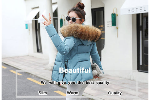 Winter Women Fox Fur Jacket With a Hood
