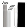 Image of High Quality Stainless Steel Reusable Drinking Straw W. Cleaner Brush