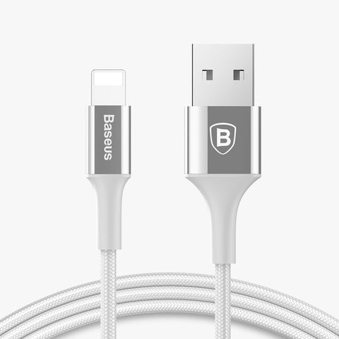 Baseus LED Light USB Cable For iPhone X XS Max XR 8 7 6 6s Plus 5 5S SE iPad Fast Charging Charger Data Cord Mobile Phone Cables