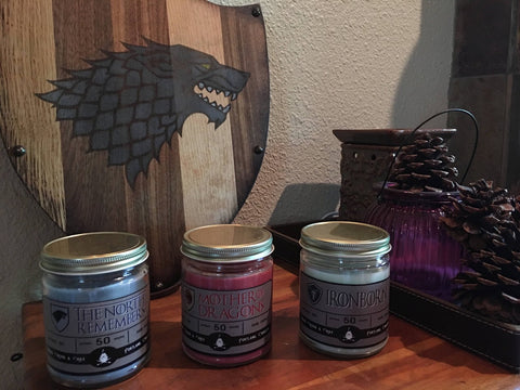 Game of Thrones Themed Scented Soy Candle - Smart Gifts