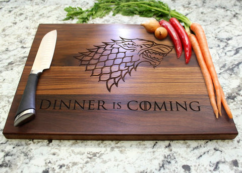Dinner is Coming Cutting Board - Smart Gifts