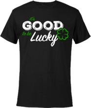 "Load image into Gallery viewer, Horseshoe ""It's Good To Be LUCKY""  (White, Black, Yellow)"