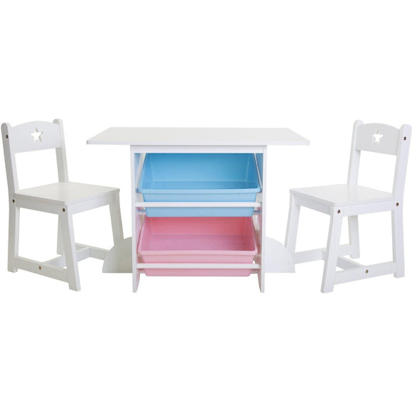 Mia Kids Large Storage Table with Chairs
