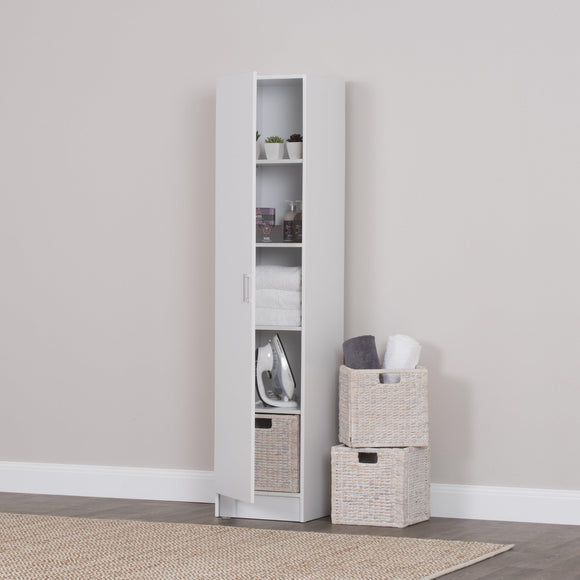 Multi-Purpose Cupboard Single Door White