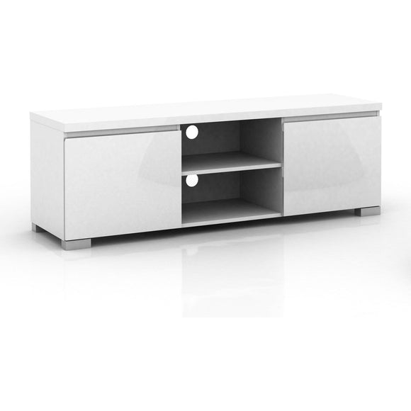 2 Door Entertainment Unit in White High Gloss finish