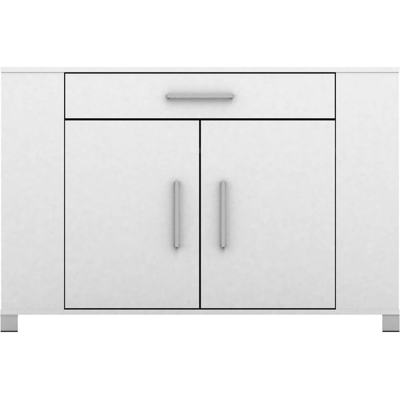 Sorrento Buffet with Drawer & Cupboard - White