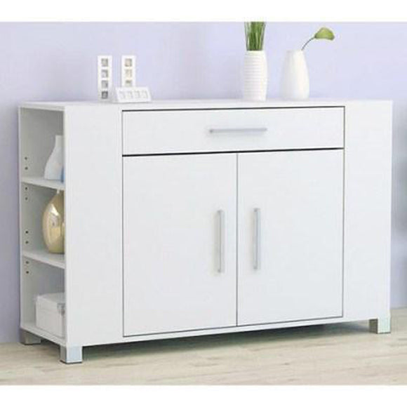 Tarin Buffet with Drawer & Cupboard - Full White