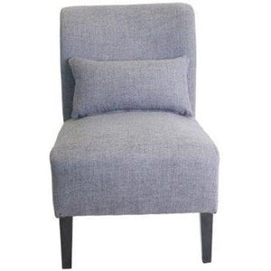 Laura Classic Fabric Accent Chair with Cushion - Charcoal or Grey