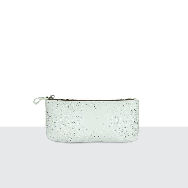 White Sparkle Make Up Pouch