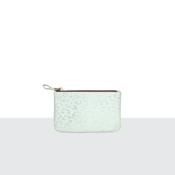 White Sparkle Medium Pouch