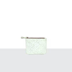 White Sparkle Credit Card Pouch