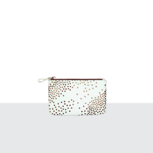 Tiny Star White Medium Pouch