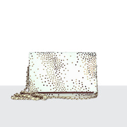 Tiny Star White Fold Over Shoulder Bag